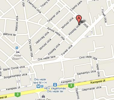 örs vezér tér térkép Zuglói Gyermeknyelviskola örs vezér tér térkép